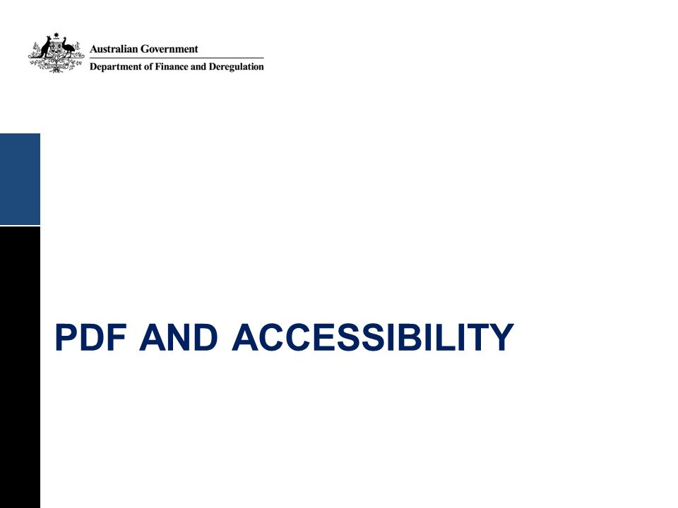 PDF and accessibility