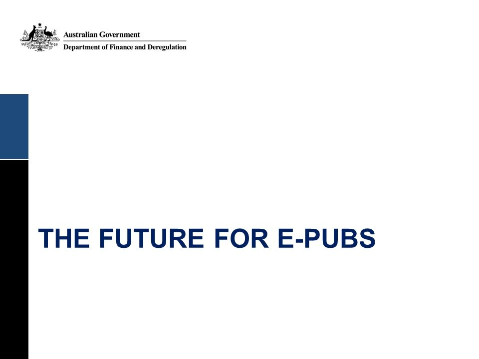 the future for e-pubs