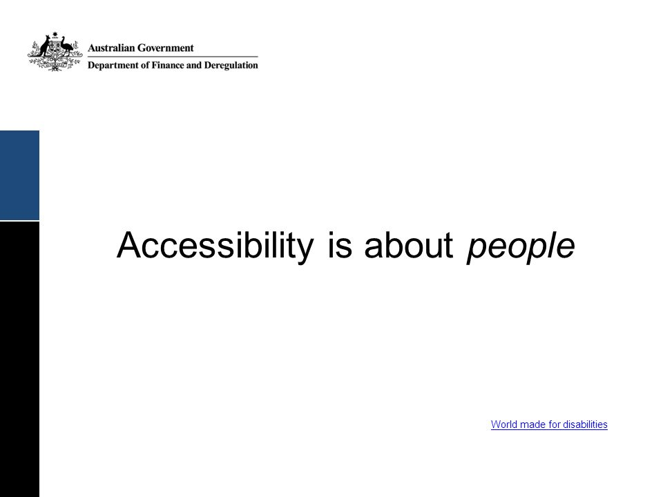 Accessibility is about people
