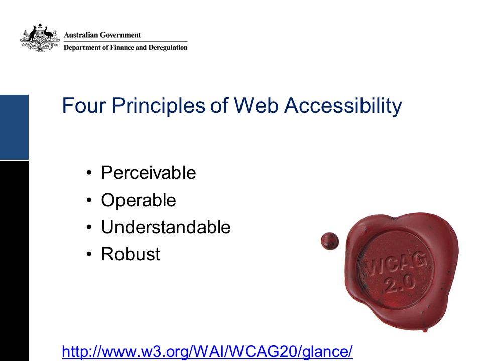 Four Principles of Web Accessibility