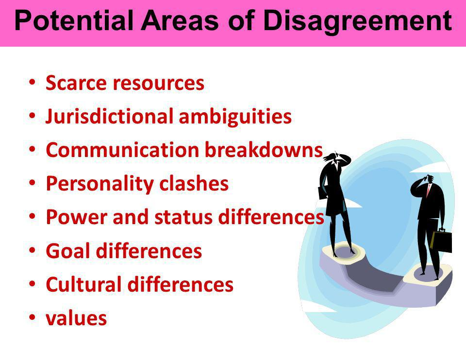 Potential Areas of Disagreement