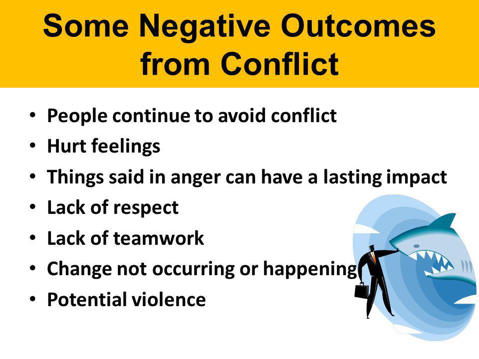 Some Negative Outcomes from Conflict
