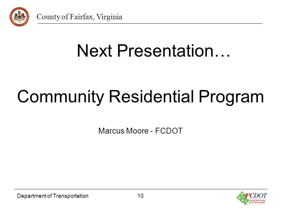 Community Residential Program