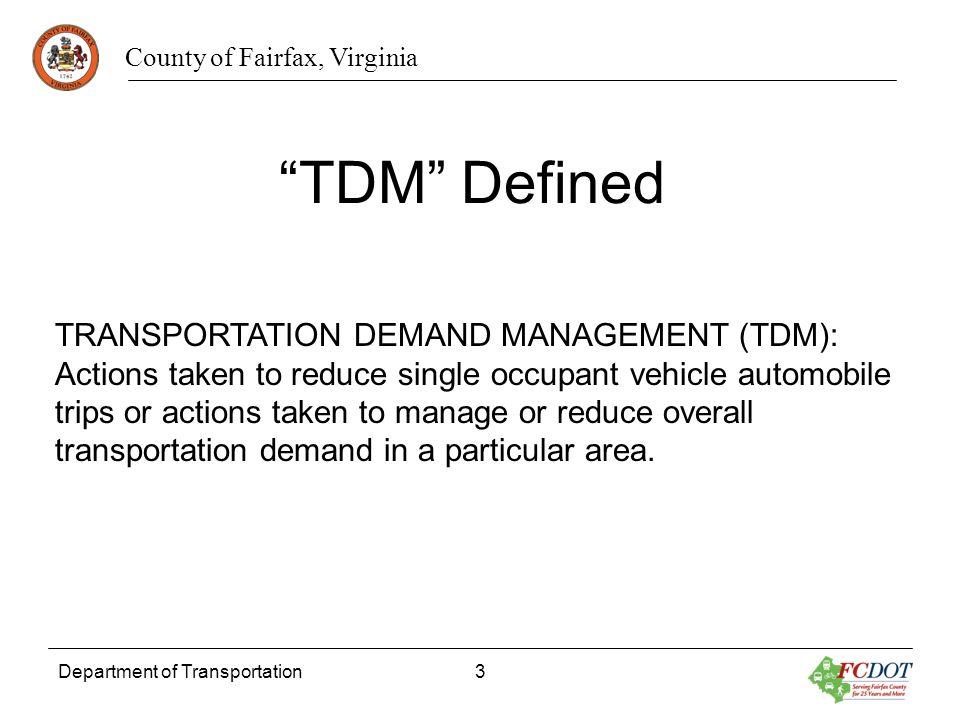 TDM Defined