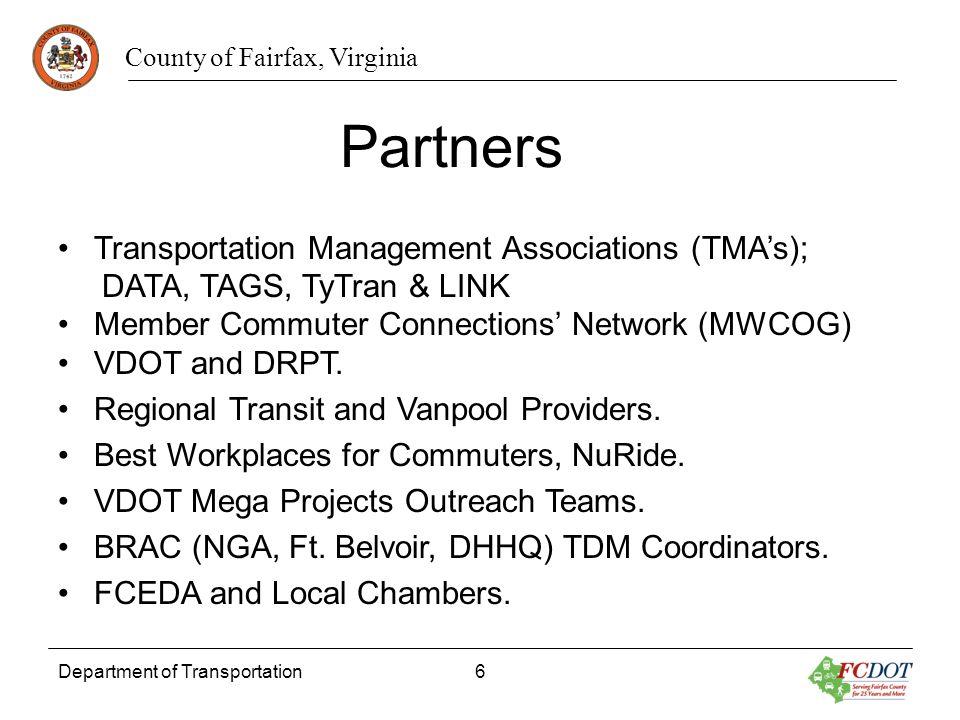 Partners Transportation Management Associations (TMA's);
