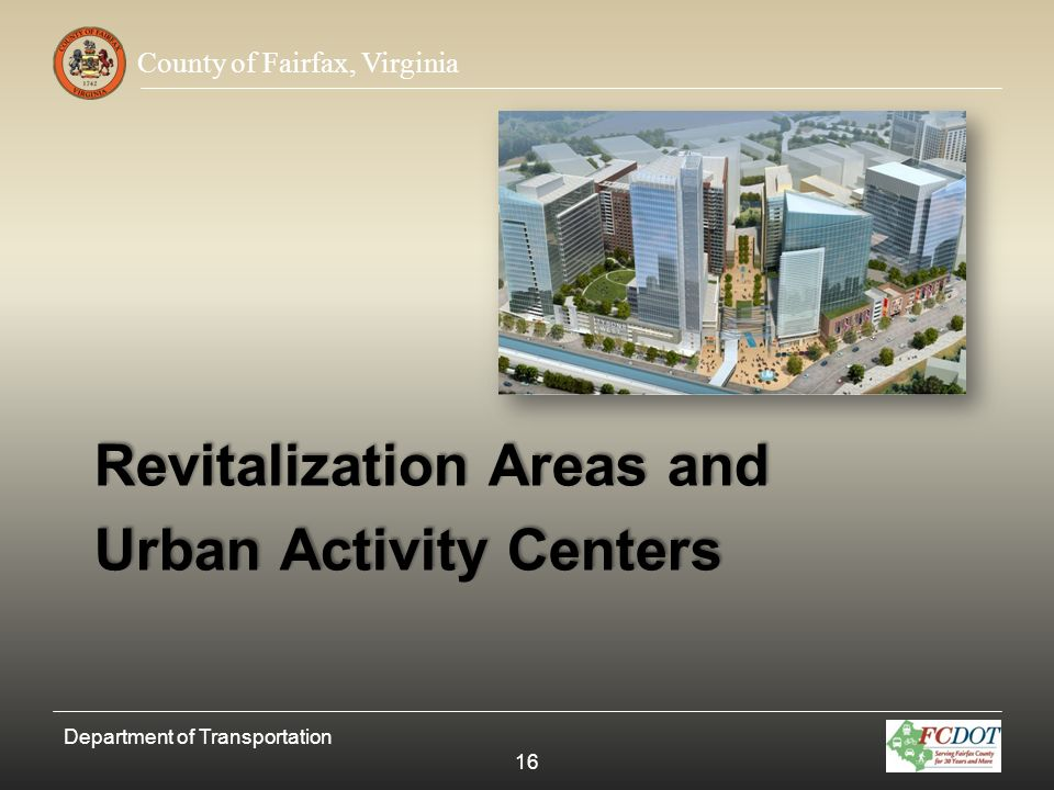 Revitalization Areas and Urban Activity Centers