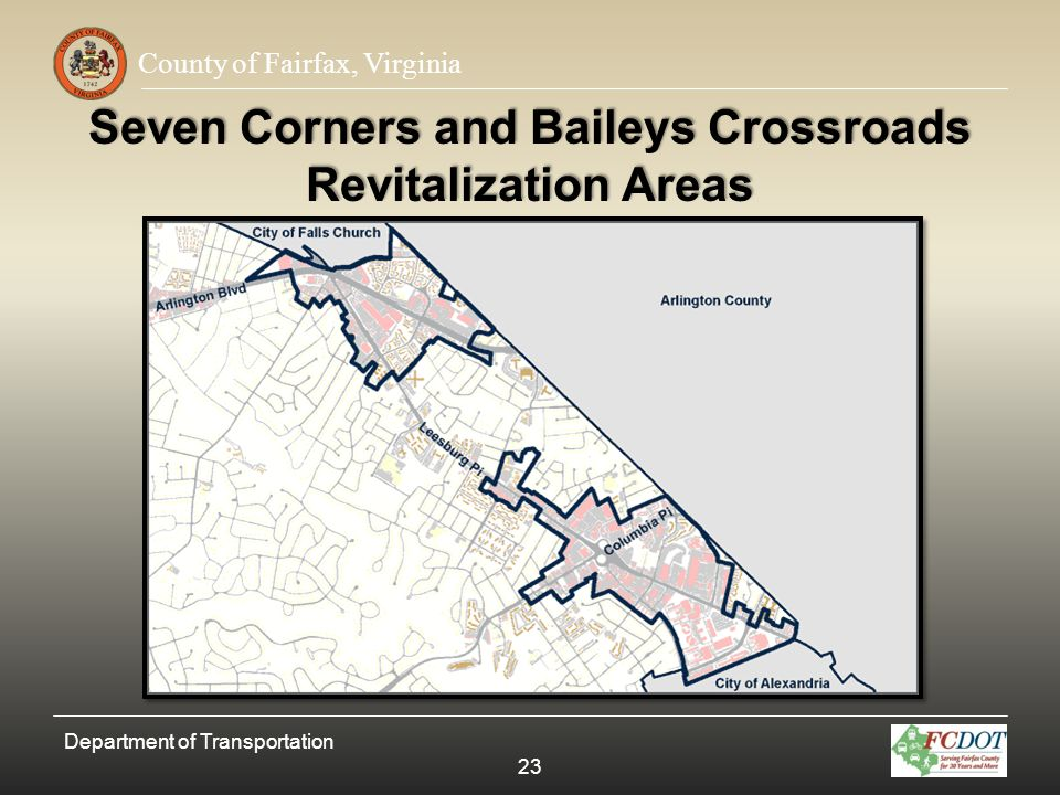 Seven Corners and Baileys Crossroads Revitalization Areas