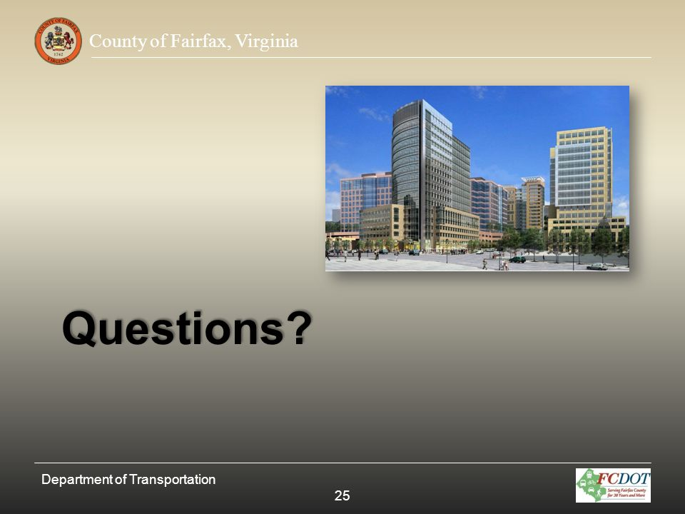 Questions Department of Transportation 25