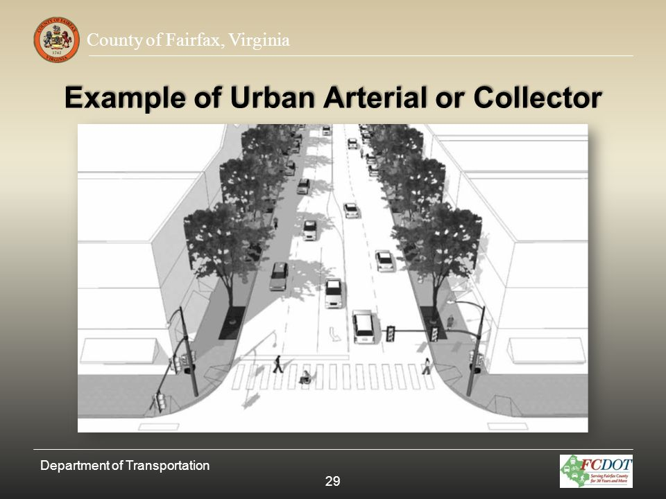 Example of Urban Arterial or Collector