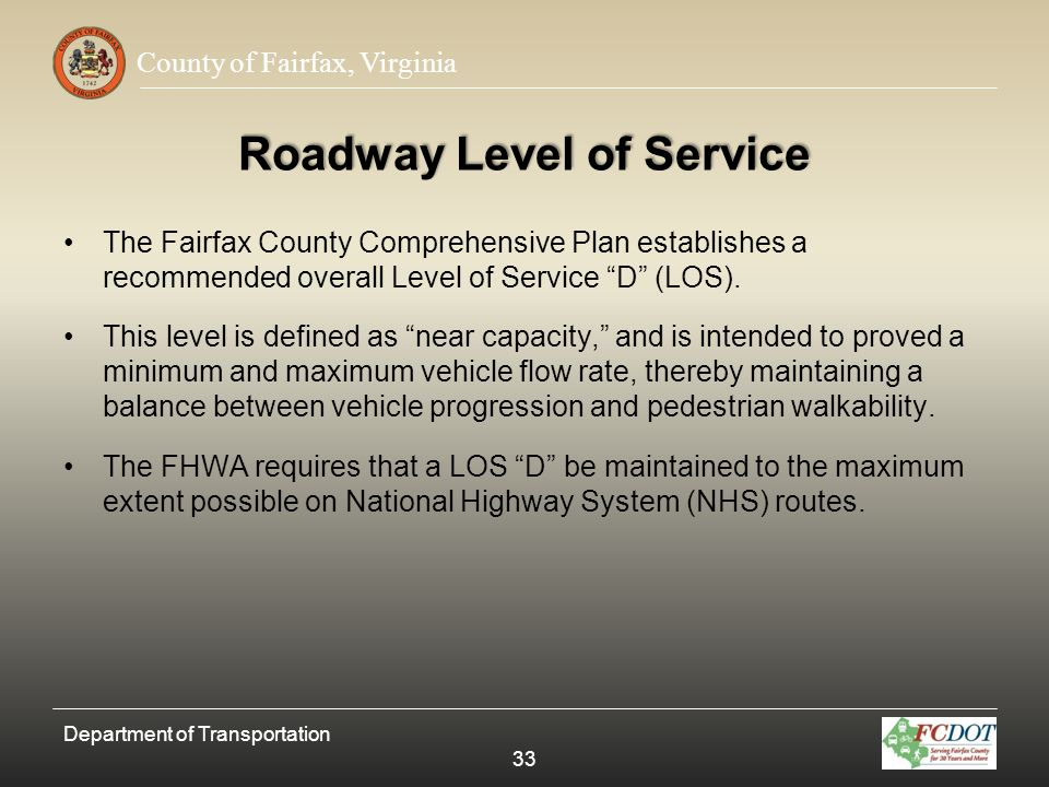 Roadway Level of Service