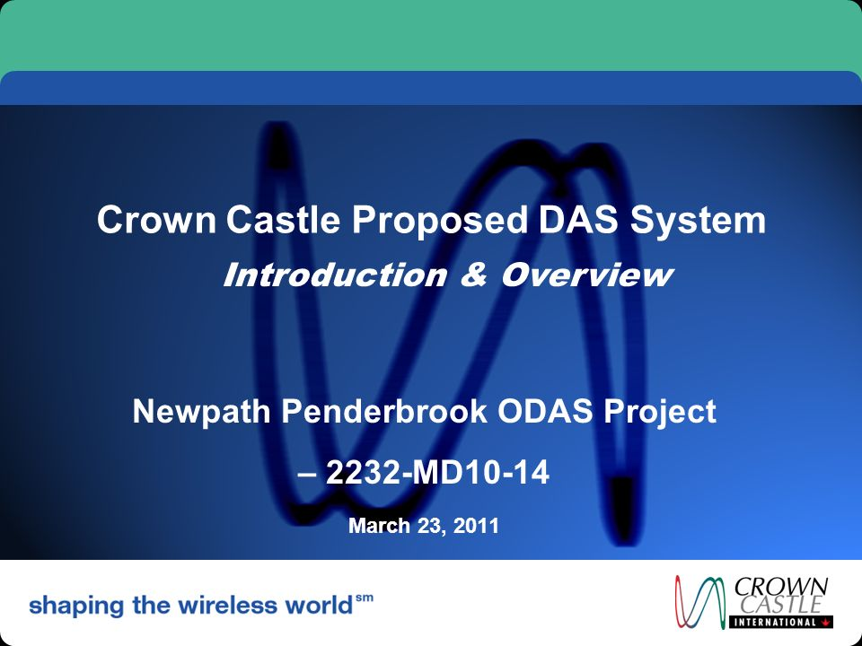 Crown Castle Proposed DAS System