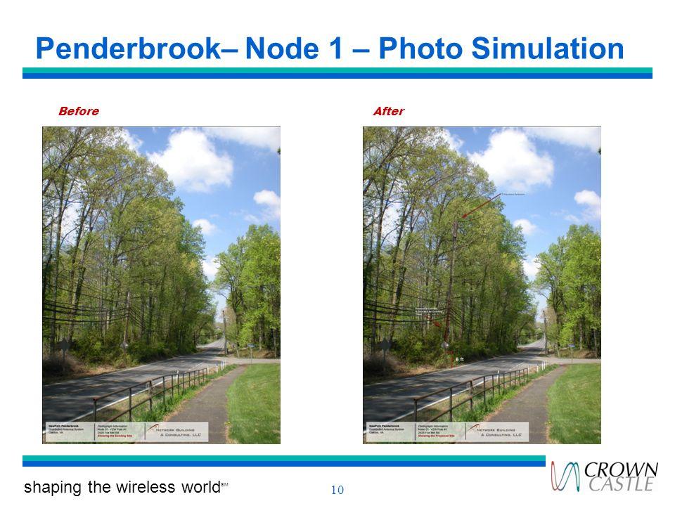 Penderbrook– Node 1 – Photo Simulation