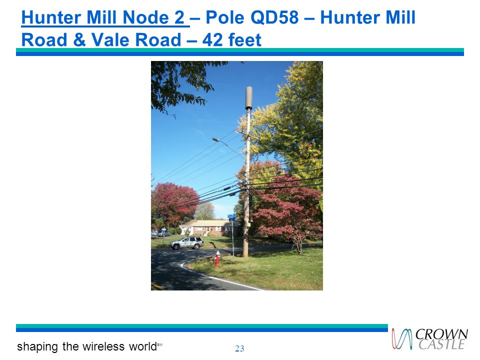 Hunter Mill Node 2 – Pole QD58 – Hunter Mill Road & Vale Road – 42 feet