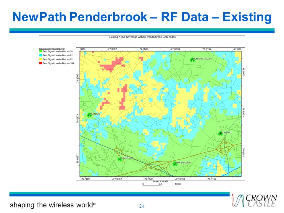 NewPath Penderbrook – RF Data – Existing