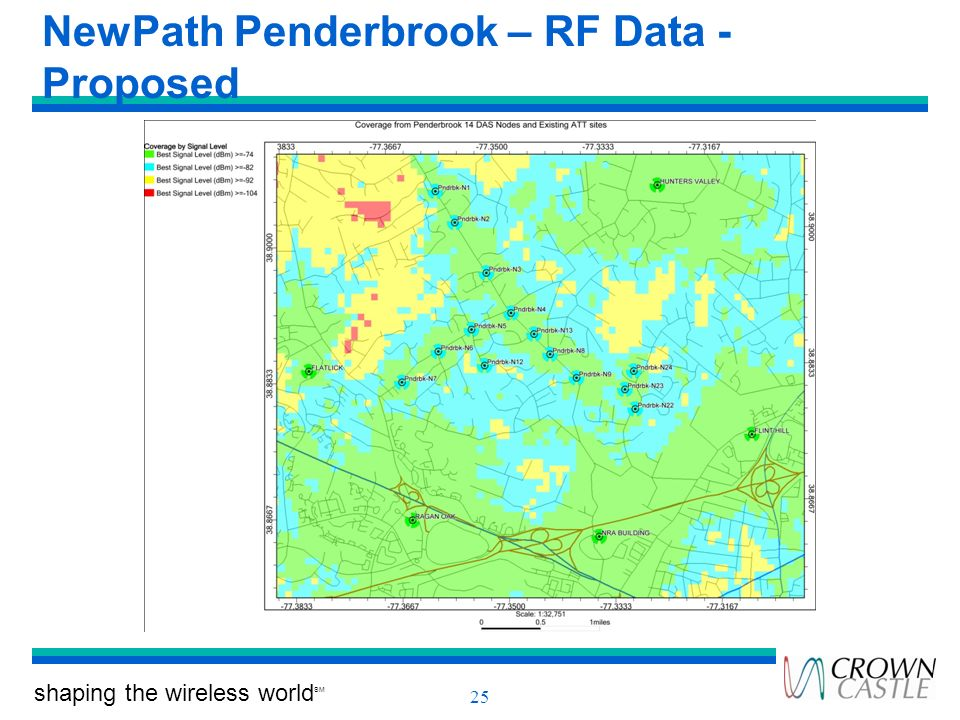NewPath Penderbrook – RF Data - Proposed