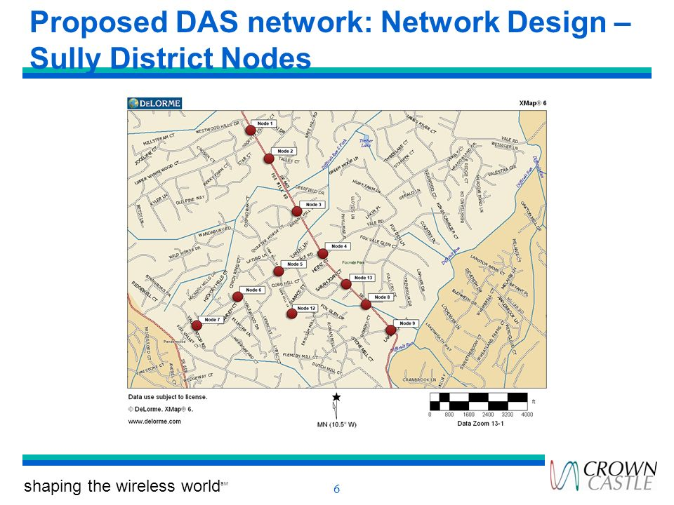 Proposed DAS network: Network Design – Sully District Nodes