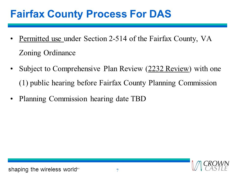Fairfax County Process For DAS