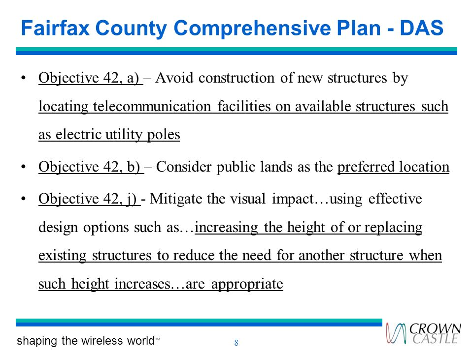 Fairfax County Comprehensive Plan - DAS