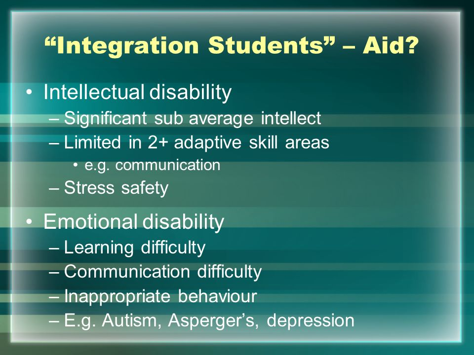 Integration Students – Aid