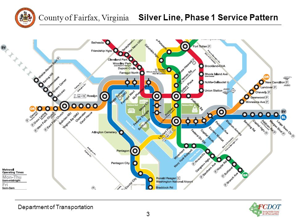 Silver Line, Phase 1 Service Pattern