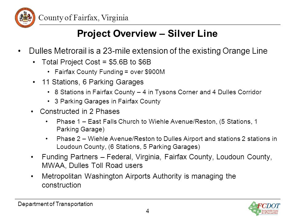 Project Overview – Silver Line