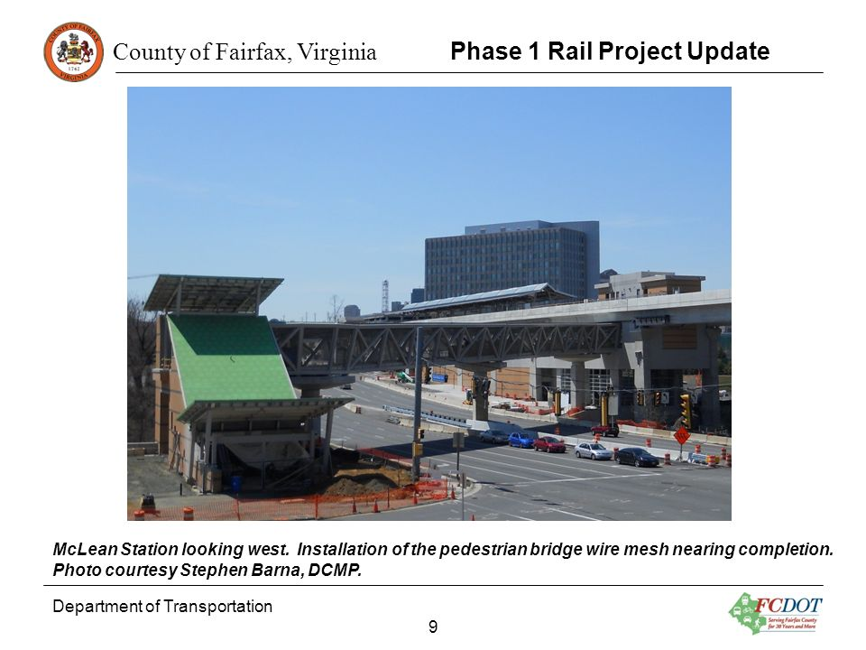 Phase 1 Rail Project Update