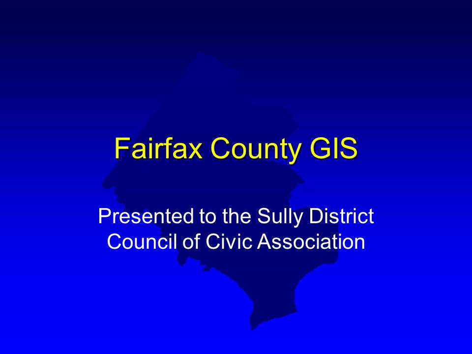 Presented to the Sully District Council of Civic Association