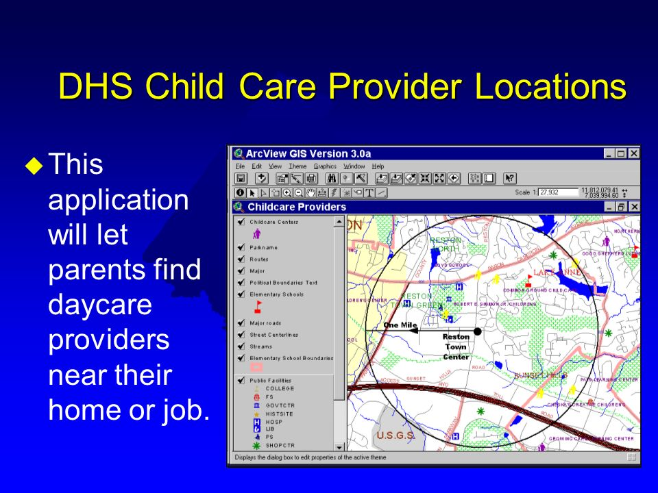 DHS Child Care Provider Locations