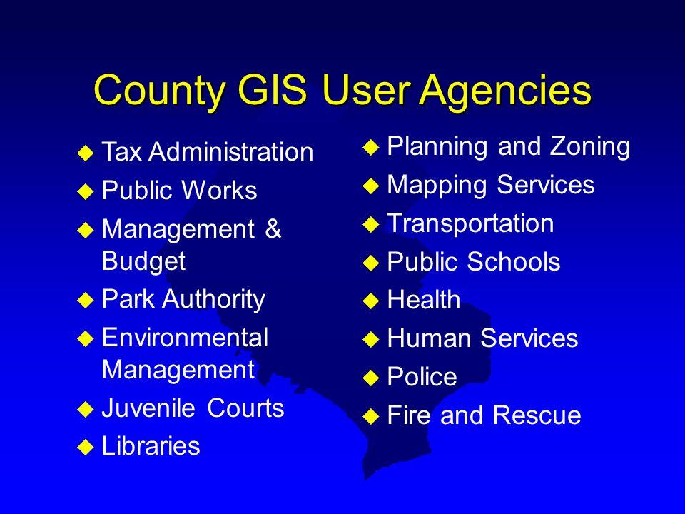 County GIS User Agencies
