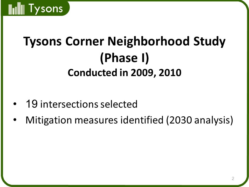 Tysons Corner Neighborhood Study (Phase I)