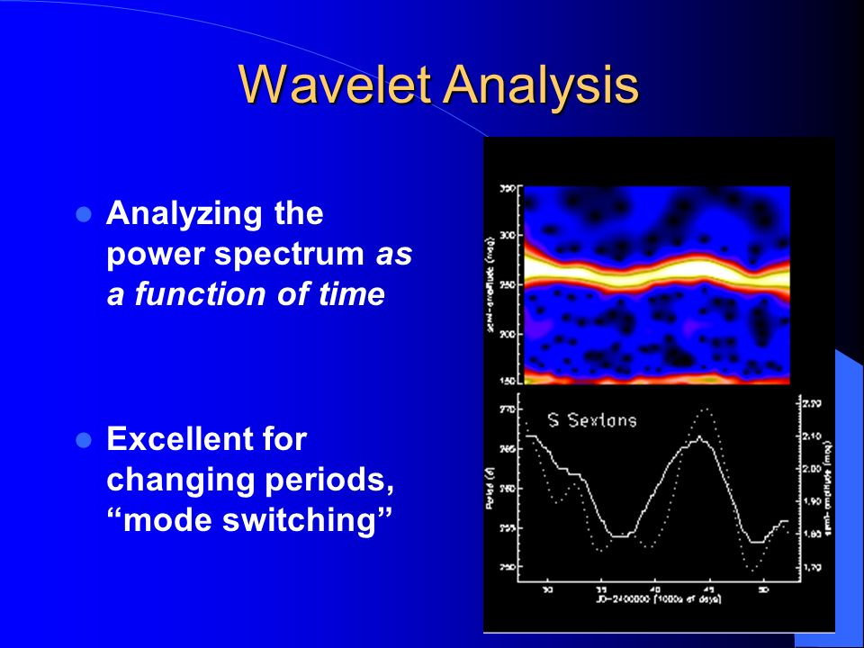 Wavelet Analysis Analyzing the power spectrum as a function of time
