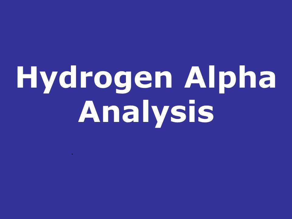 Hydrogen Alpha Analysis