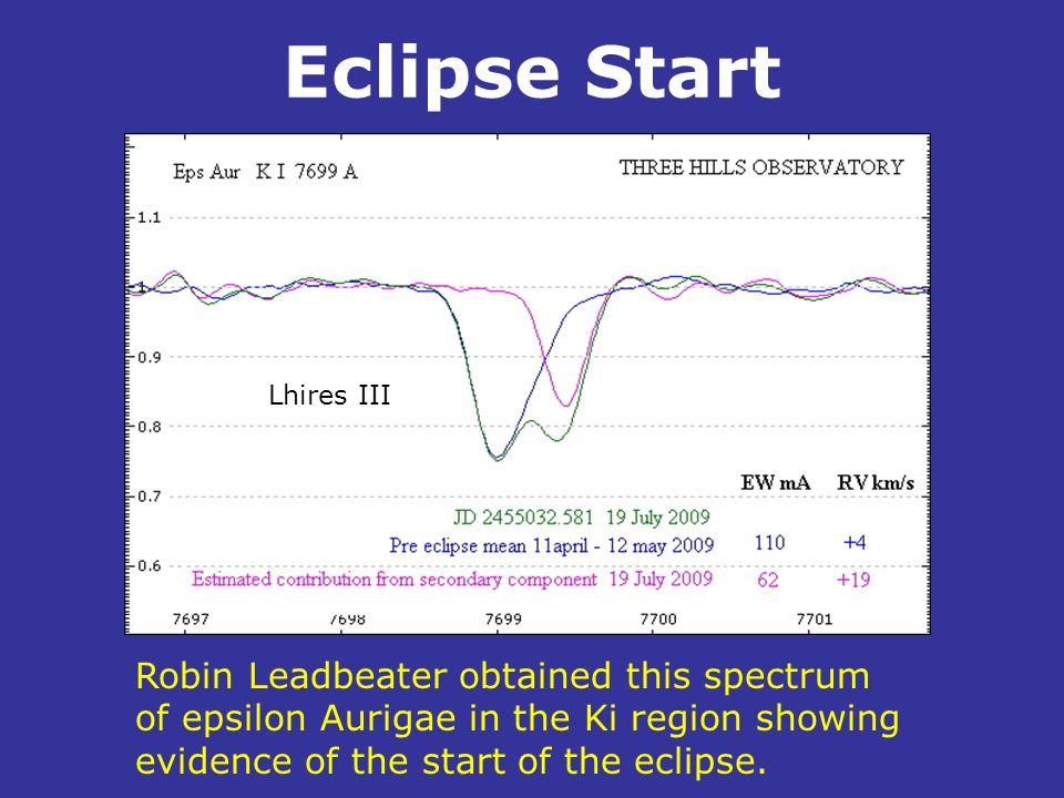 Eclipse Start Lhires III. .