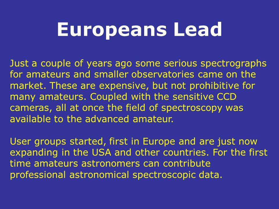 Europeans Lead