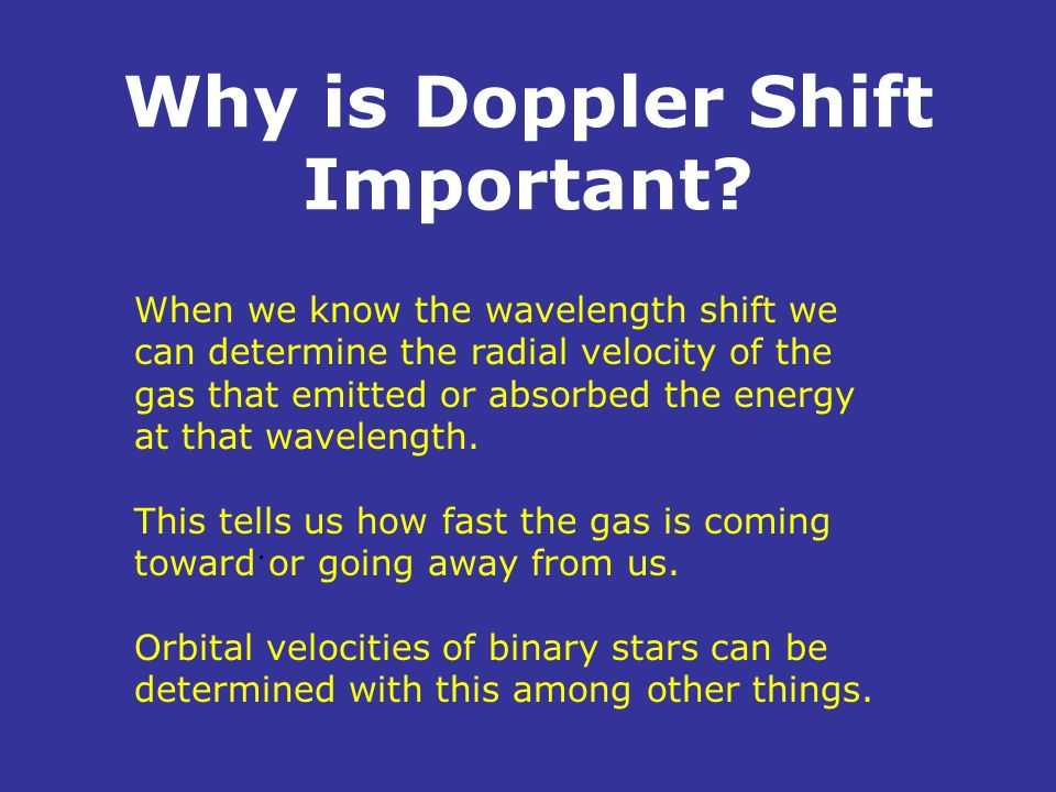 Why is Doppler Shift Important