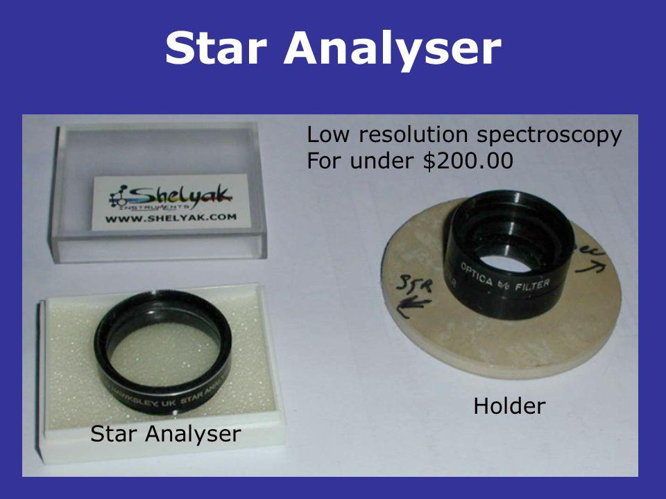 Star Analyser Low resolution spectroscopy For under $200.00 . Holder