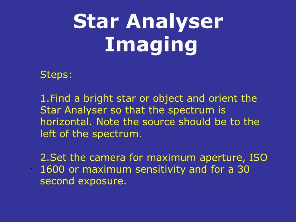 Star Analyser Imaging Steps: