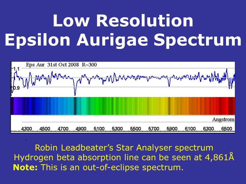 Low Resolution Epsilon Aurigae Spectrum