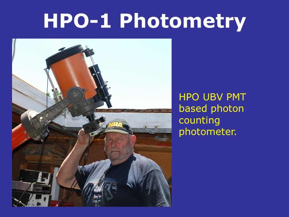 HPO-1 Photometry HPO UBV PMT based photon counting photometer. .