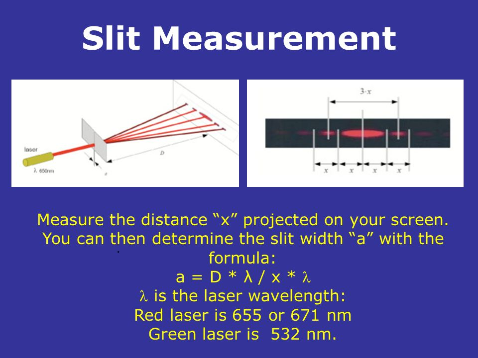 is the laser wavelength: