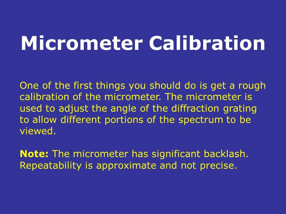 Micrometer Calibration