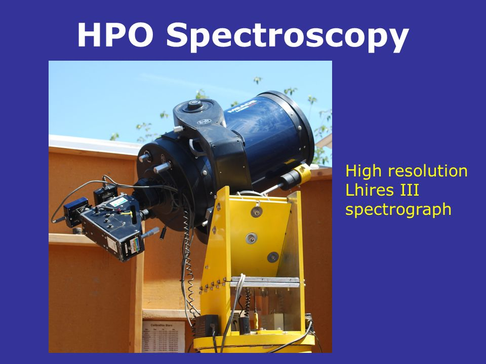 HPO Spectroscopy High resolution Lhires III spectrograph .