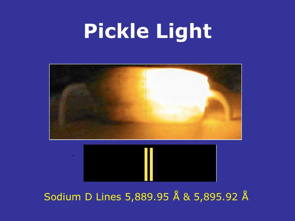 Pickle Light . Sodium D Lines 5,889.95 Å & 5,895.92 Å