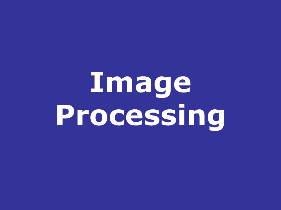 Image Processing