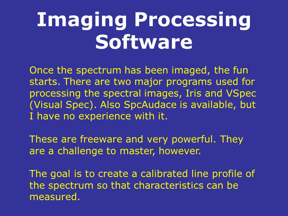 Imaging Processing Software