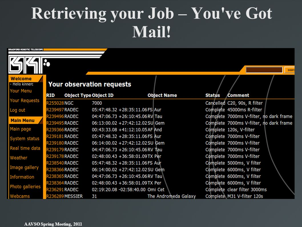 Retrieving your Job – You ve Got Mail!