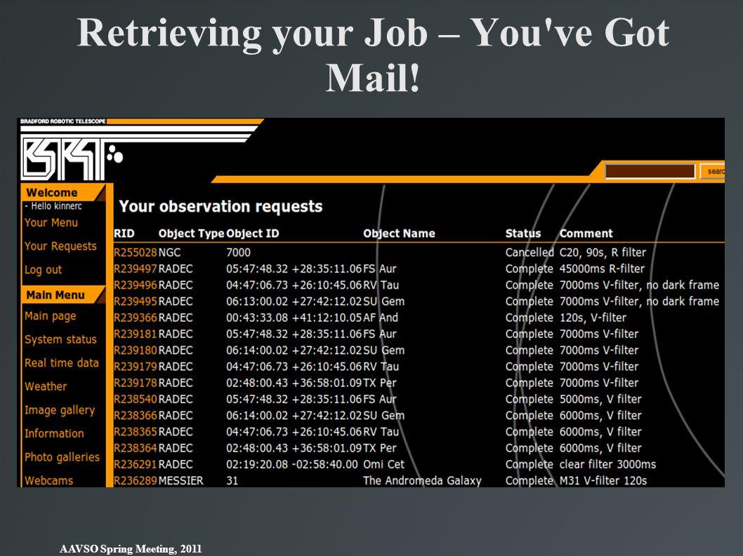 Retrieving your Job – You ve Got Mail!