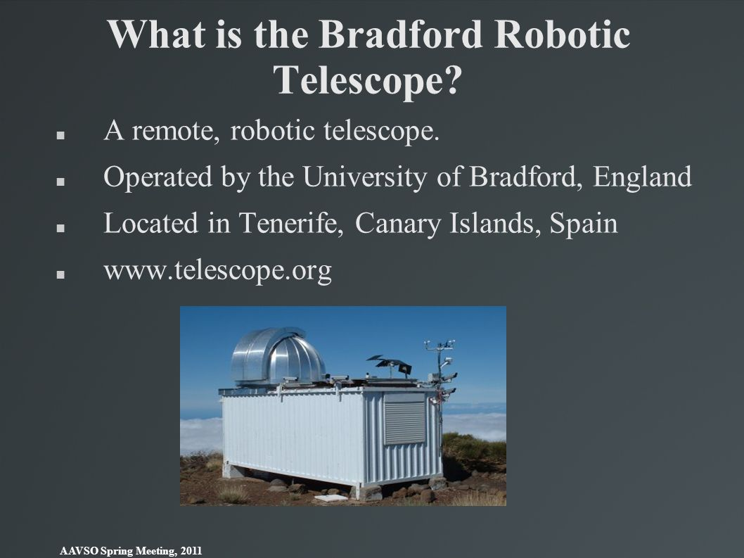 What is the Bradford Robotic Telescope