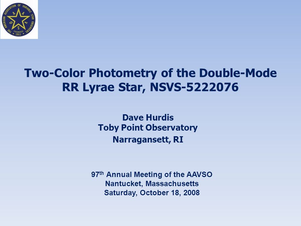 Two-Color Photometry of the Double-Mode RR Lyrae Star, NSVS