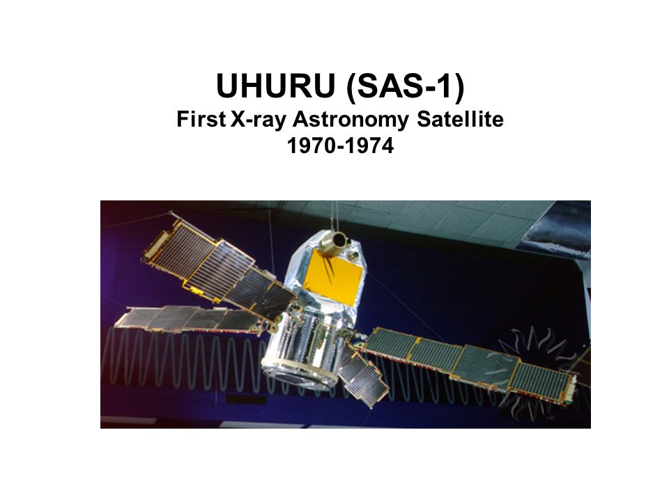UHURU (SAS-1) First X-ray Astronomy Satellite